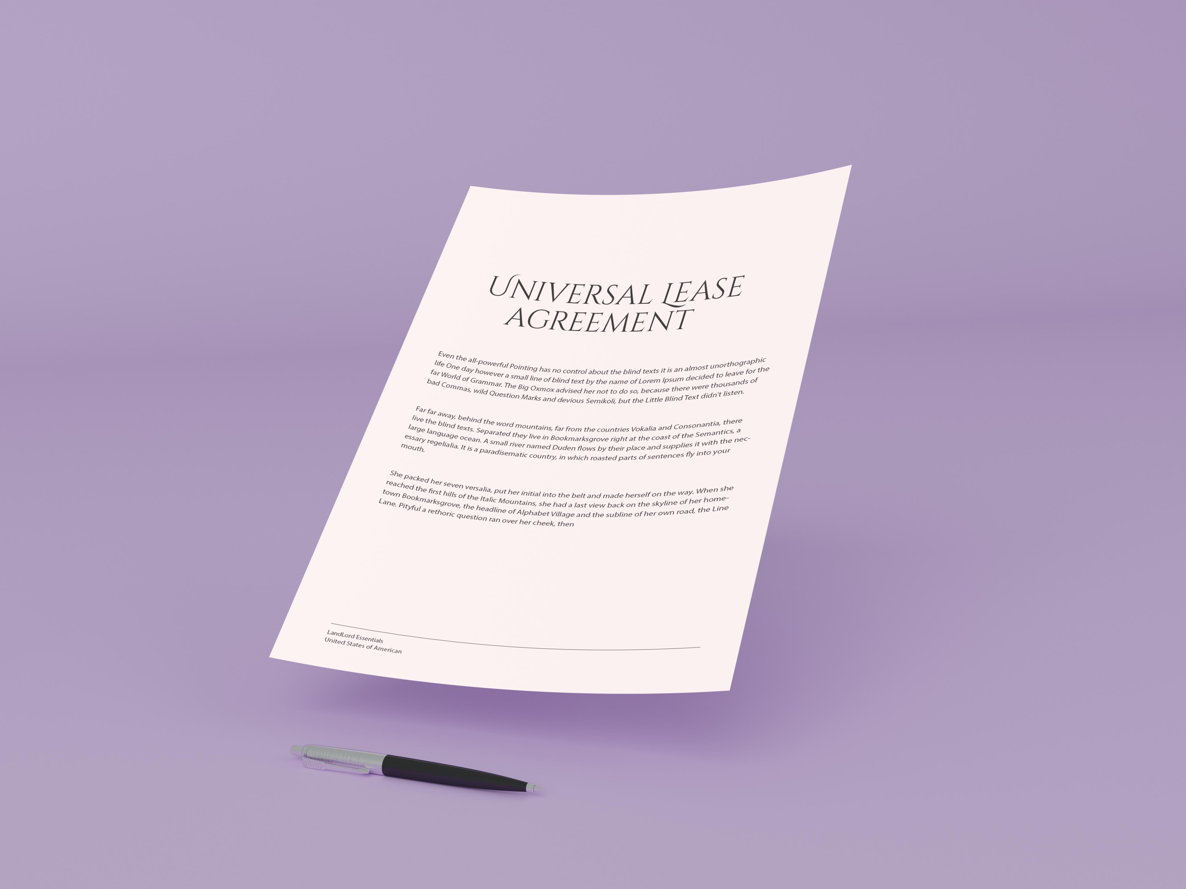 Universal Lease Agreement Lockard Law Pllc